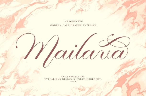 Mailava Font