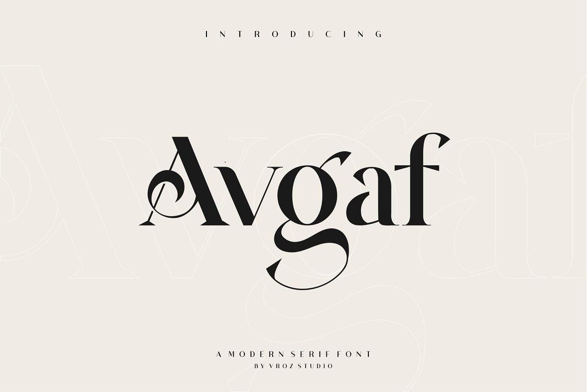 Avgaf-Font
