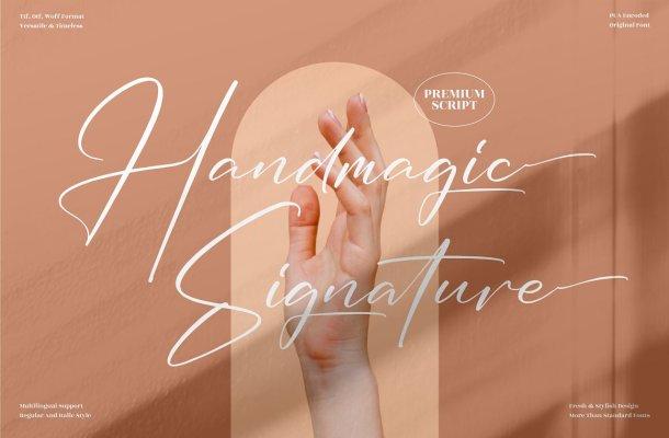 Handmagic Signature Font