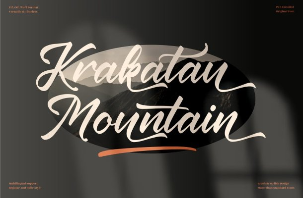 Krakatau-Mountain-Font