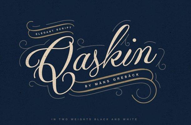 Qaskin Script Typeface