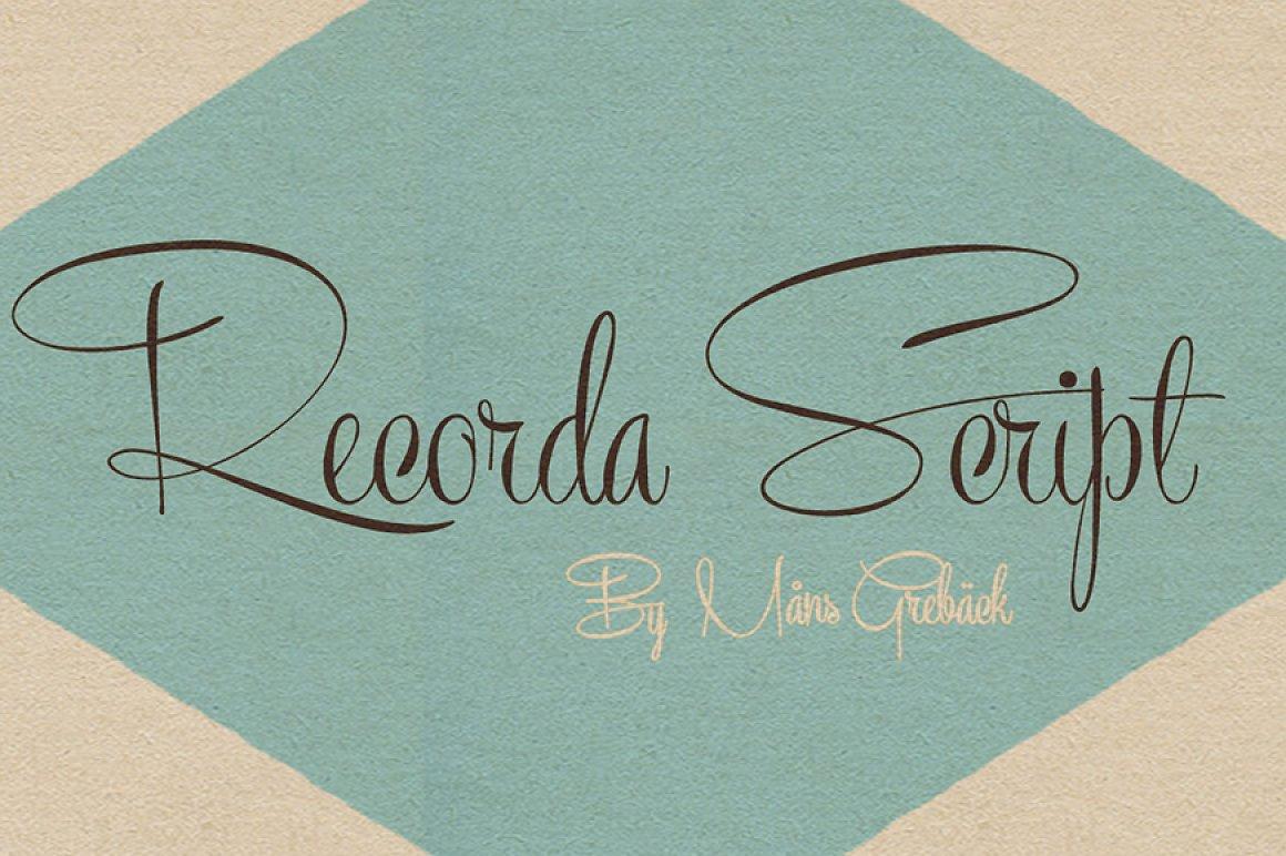 Recorda-Script-Font
