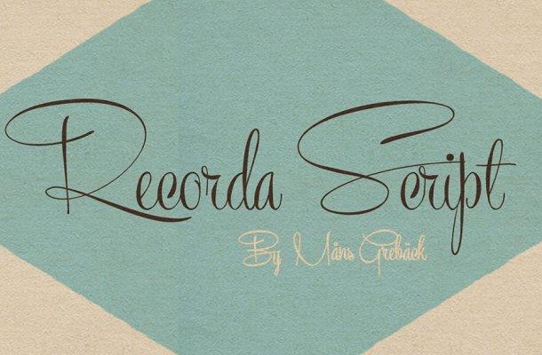 Recorda Script Font