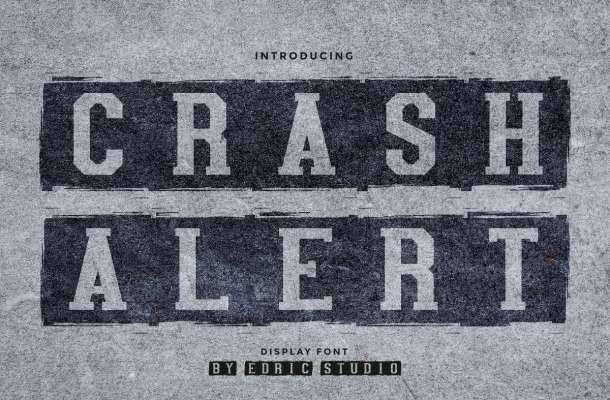 Crash Alert Font