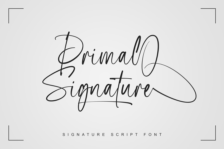 Primal Signature Font