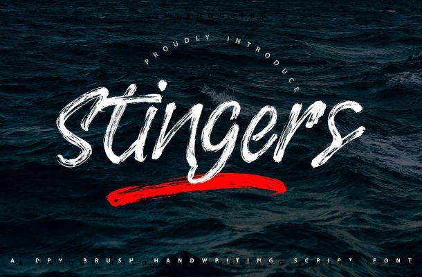 Stingers Brush Font