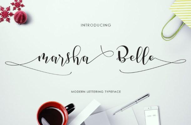Marsha-Belle Free Font