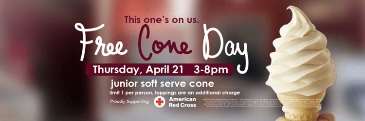 Free Ice Cream Cone at Carvel on April 21 from 3PM to 8PM!