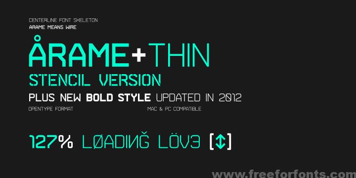 Arame Font Free Download – Free Font Download