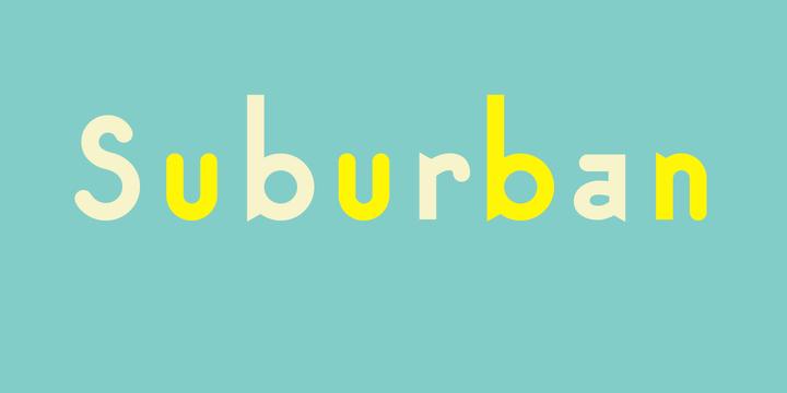 Suburban Font