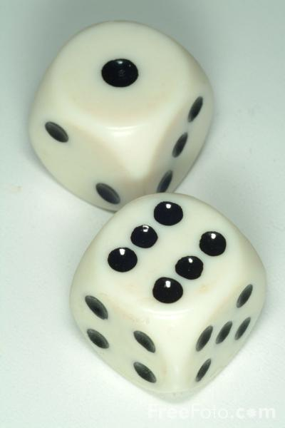 Picture of Dice - Free Pictures - FreeFoto.com