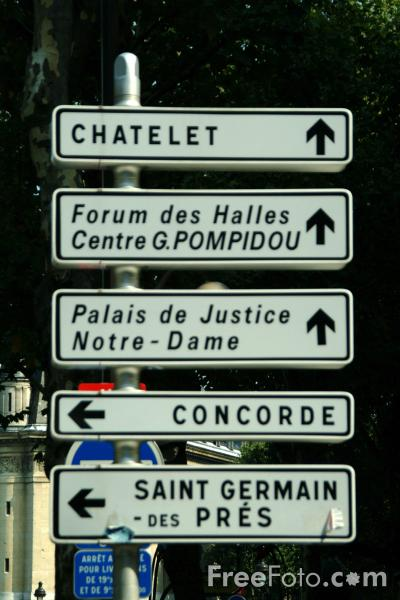 Road Signs Paris France Pictures Free Use Image 41 06