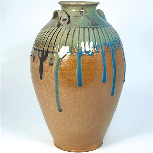 Jar with Incised Lines by Jugtown Pottery