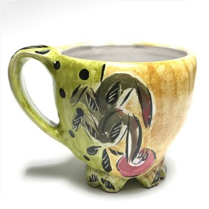 Yellow Mug with Polka Dots by Posey Bacopoulos