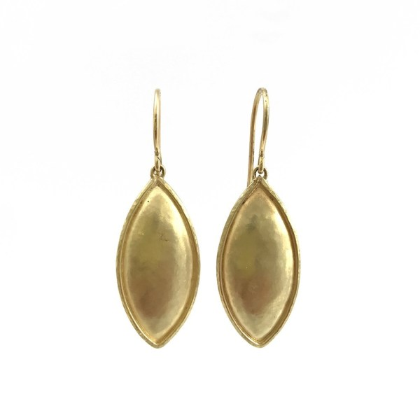 Hammered Marquise 18k Gold Drop Earrings by Jo Baxter