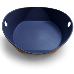 matte copen large handled serving bowl