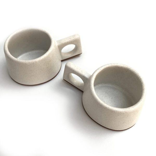 black clay espresso cup