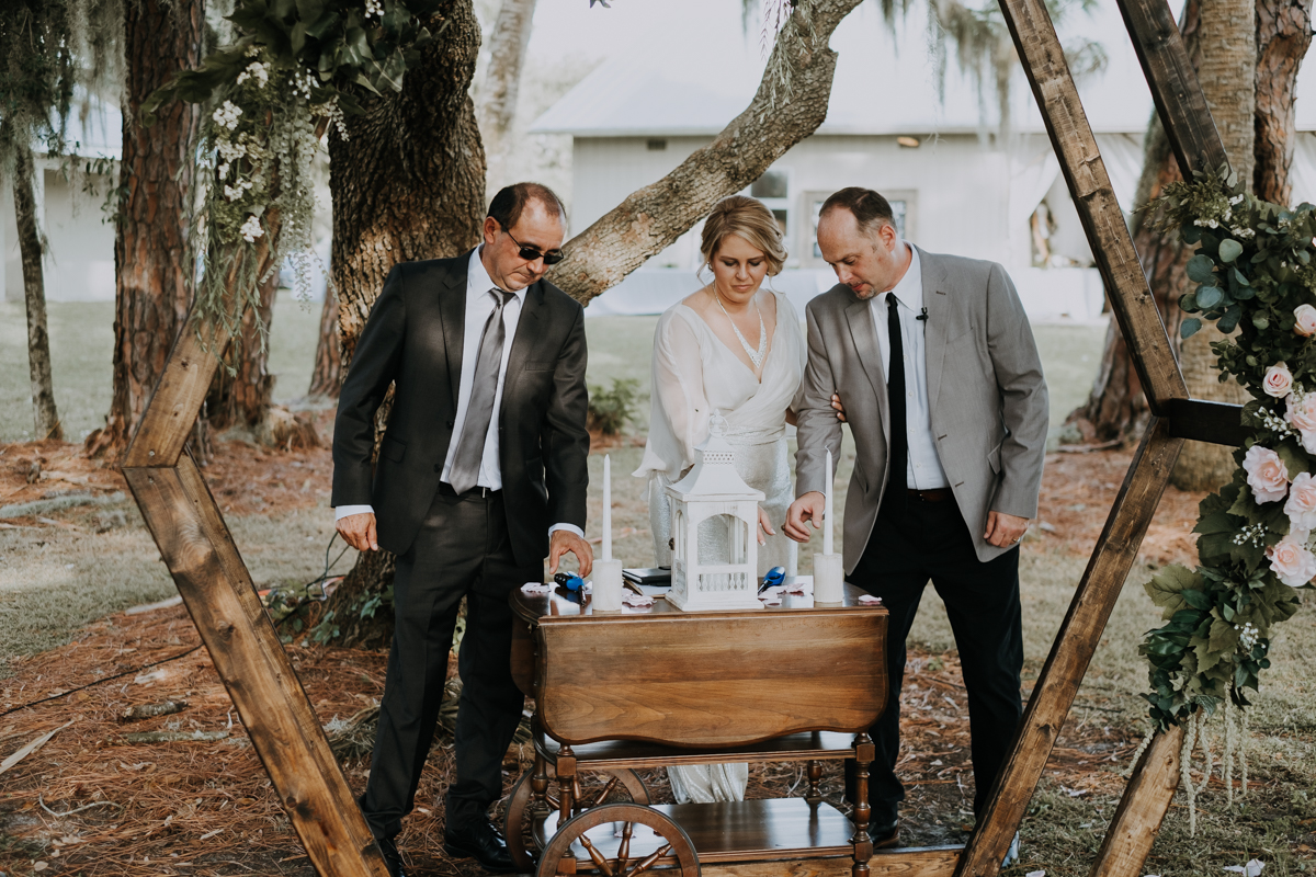 unity candle lighting | romantic sarasota wedding photographer | romantic sarasota wedding | tampa wedding photographer | freehearted film co