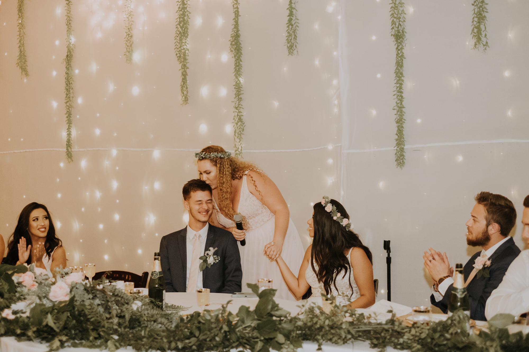 reception toasts | reception speeches | boho wedding reception | elegant boho wedding | Florida wedding