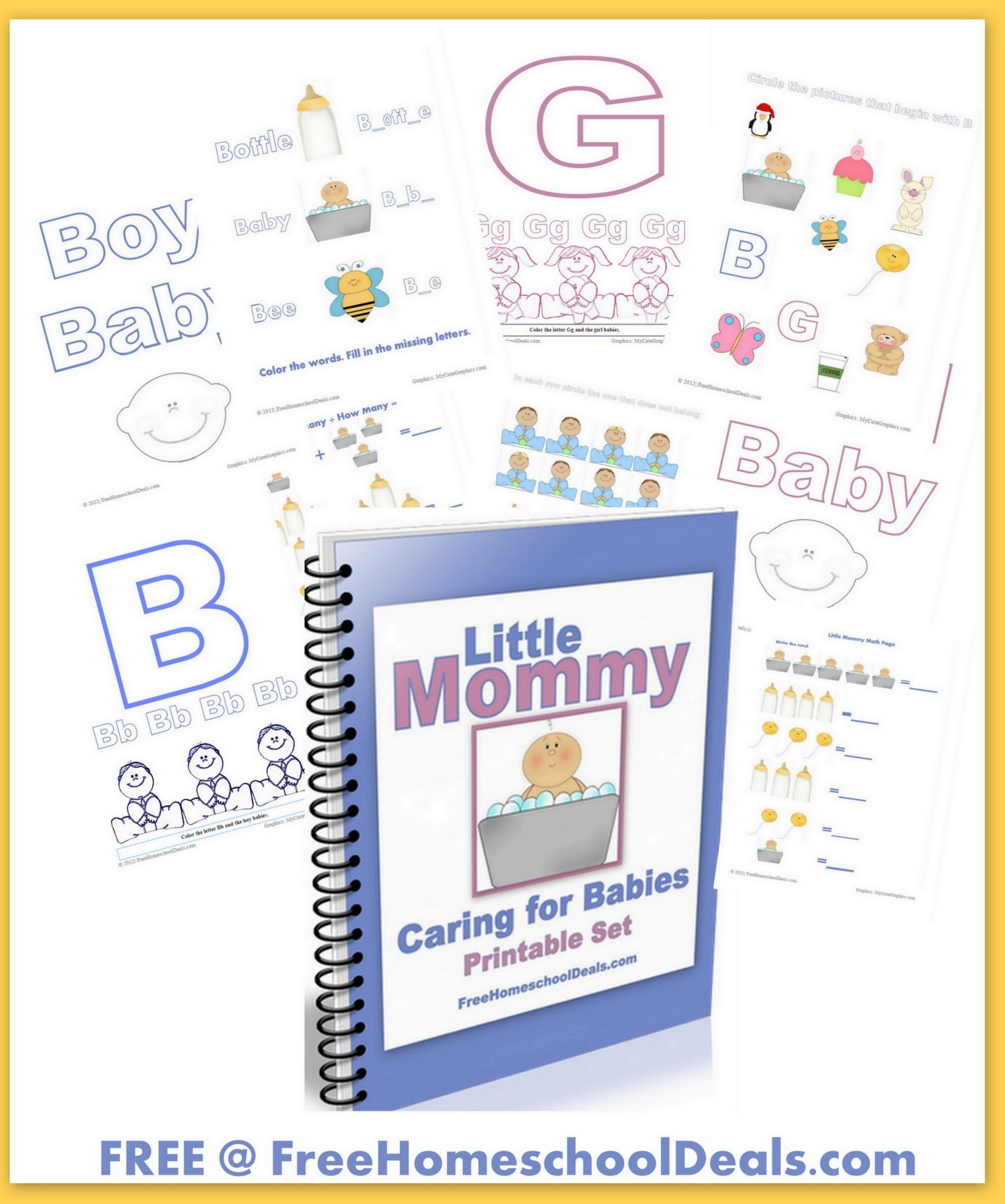 Free Printable Set Little Mommy Caring For Babies
