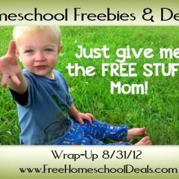 Homeschool Freebies & Deals Wrap Up 8/31/12