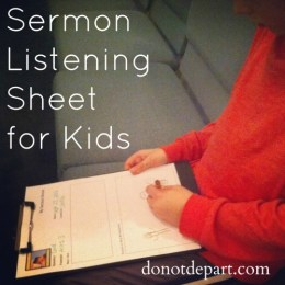 FREE Sermon Note Sheet for Children
