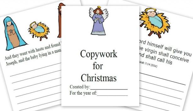 Free Copywork: The Story of Christmas
