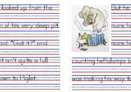 Free: My Copywork Notebook of Piglet Meets a Heffalump (13-Pages)