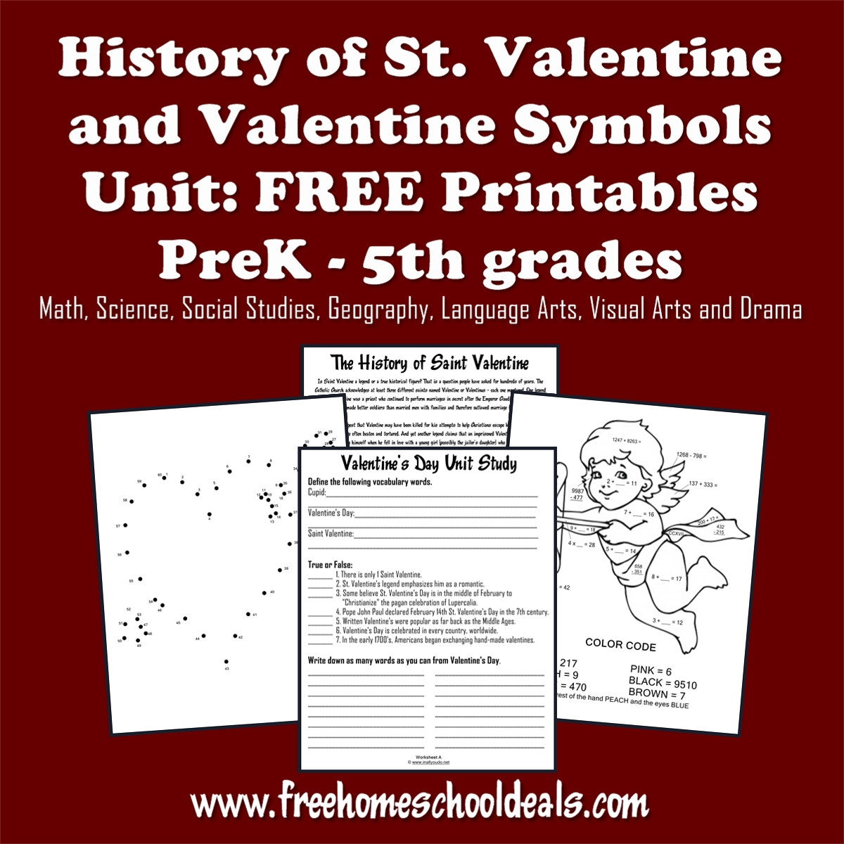 History Of St Valentines Day Unit Study And Free