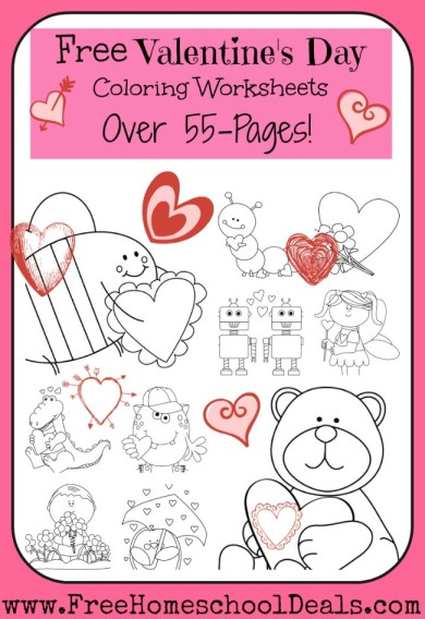 Free Valentine's Day Coloring Worksheets