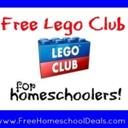 Free Lego Club for Homeschoolers!