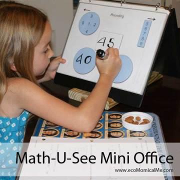 Free Printable Math-U-See Mini Office
