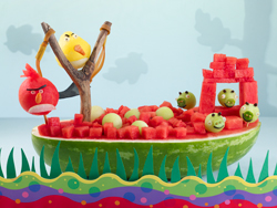 Angry Birds Watermelon Carving Tutorial