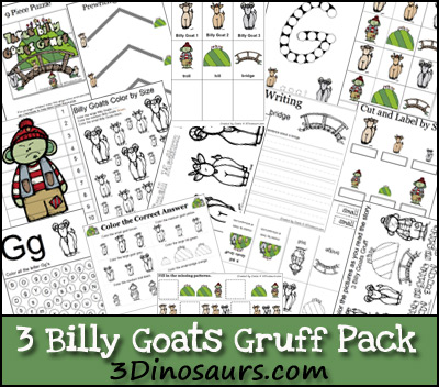 Free 3 Billy Goats Gruff Printable Pack