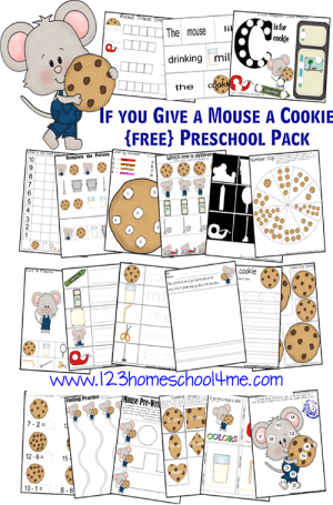 Free If you Give a Mouse a Cookie Printable Pack