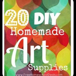 20 Do-It-Yourself Homemade Art Supplies