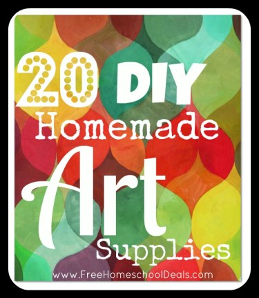 Homemade Art Supplies