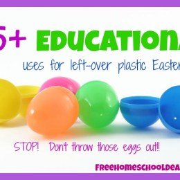 25+ Educational Uses for Plastic Easter Eggs