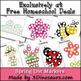 Free Spring Dot Marker Printable Set (Instant Download)