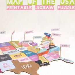 Free DIY United States Jigsaw Puzzle