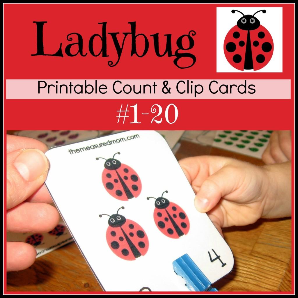 Free Ladybug Math Printables