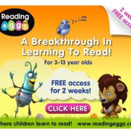 FREE 2 Week Access to Reading Eggs