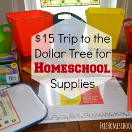 Homeschooling for Free and Frugal: My $15 Trip to the Dollar Tree for Homeschool Supplies