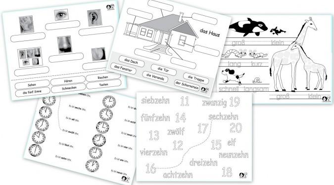 free german printable worksheets free homeschool deals. Black Bedroom Furniture Sets. Home Design Ideas
