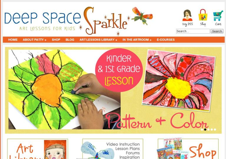 Free Online Art Lessons: Deep Space Sparkle | Free ...