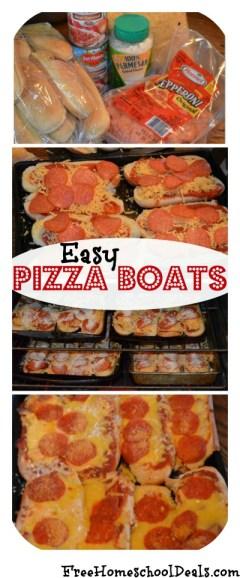 easy pizza boats