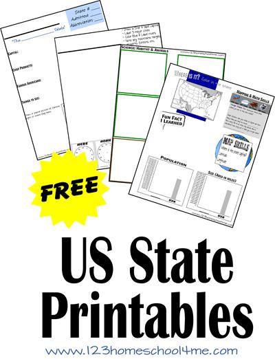 free us state printables