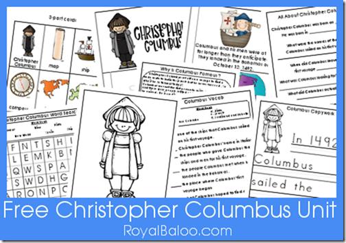Free Christopher Columbus Unit