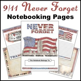 Free Patriot Day Notebooking Pages 9/11