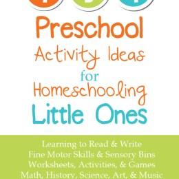 134 Preschool Activity Ideas for Homeschooling Little Ones